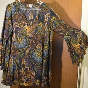 Earthbound Trading Flared Sleeve Top Viscose